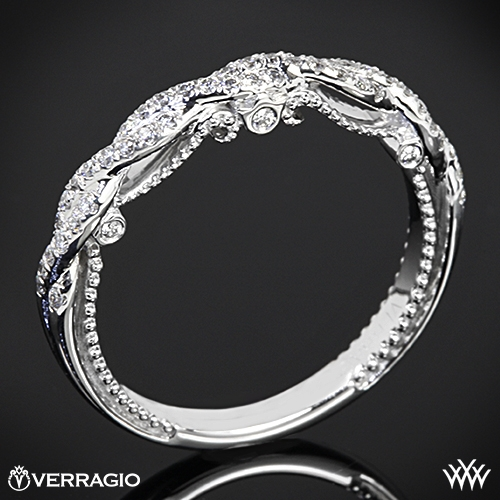 Verragio INS7074W Beaded Twist Diamond Wedding Ring 2890