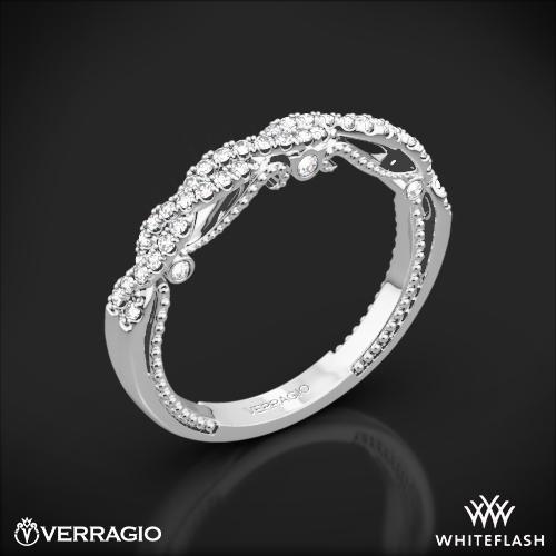 Verragio Wedding Bands.Platinum Verragio Ins 7074w Beaded Twist Diamond Wedding Ring