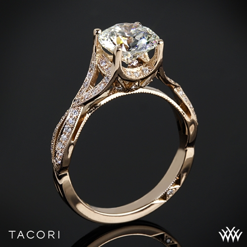 Pics For Rose Gold Engagement Rings Tacori