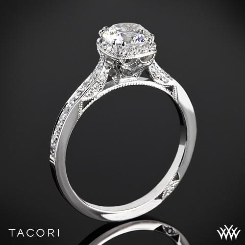 Tacori 2620RDP Dantela Crown Diamond Engagement Ring