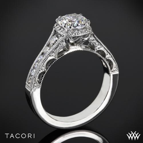 Tacori HT2515RD Reverse Crescent Contemporary Diamond Engagement Ring
