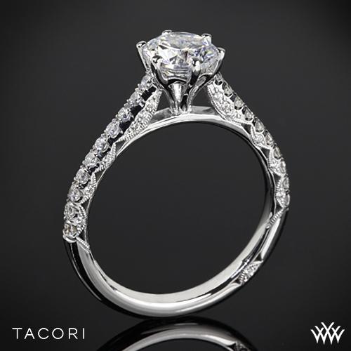 Tacori HT2546RD Petite Crescent Enchantment Diamond Engagement Ring