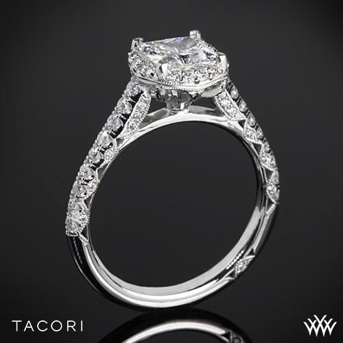 Tacori HT2547PR Petite Crescent Celestial Diamond Engagement Ring for Princess