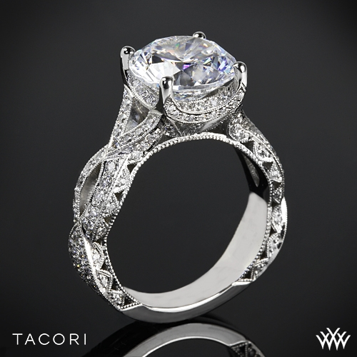 Tacori HT2606RD RoyalT Curved Diamond Engagement Ring