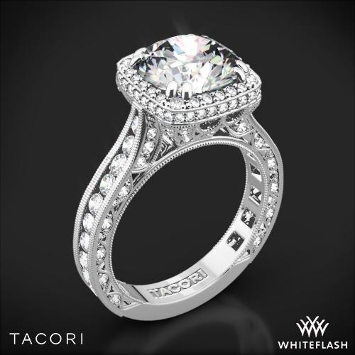 Tacori HT2607RD RoyalT Cushion-Style Bloom Diamond Engagement Ring