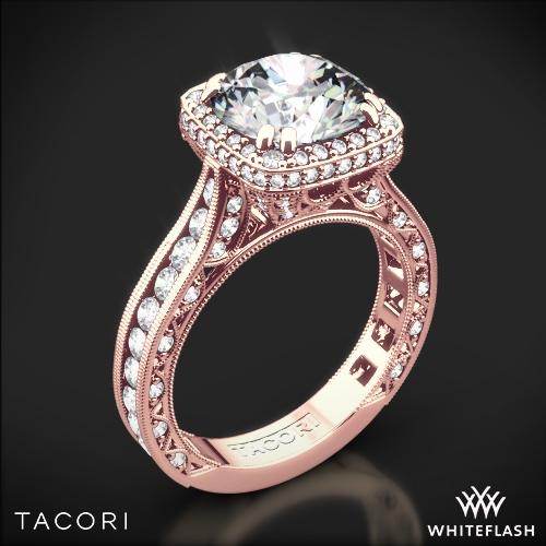 Tacori RoyalT Cushion Style Bloom Diamond Engagement Ring