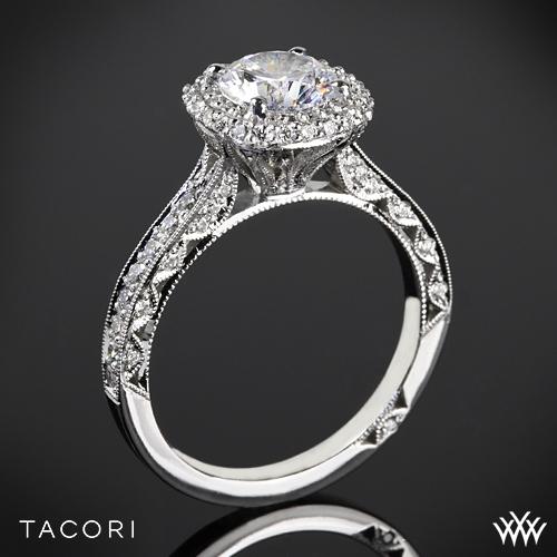 Tacori HT2522CU Blooming Beauties Botanical Cushion Bloom Diamond Engagement Ring