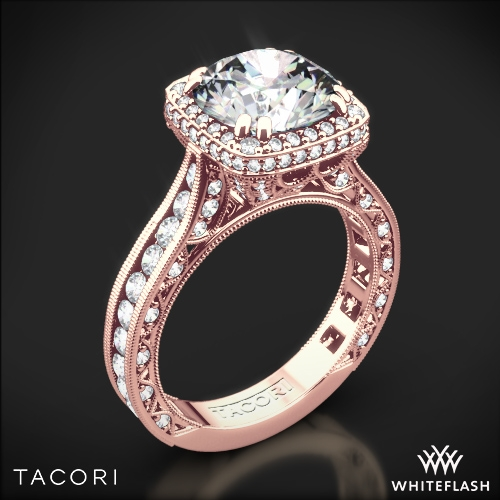 Tacori RoyalT Cushion-Style Bloom Diamond Engagement Ring | 3081