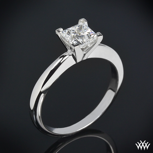4 Prong Solitaire Engagement Ring for Princess