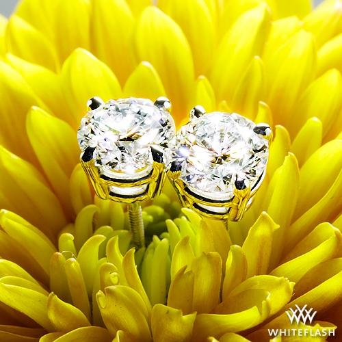 4 Prong Diamond Basket Earrings