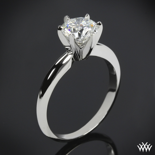 6 Prong Tiffany Style Diamond Solitaire 4