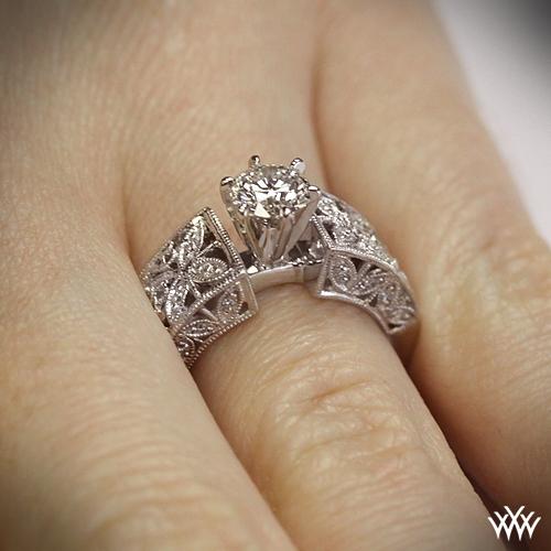 Elegant Petals Diamond Engagement Ring 28