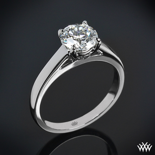 """Flush-Fit Cathedral"" Solitaire Engagement Ring"