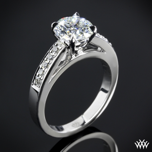 """Flush-Fit"" Diamond Engagement Ring"