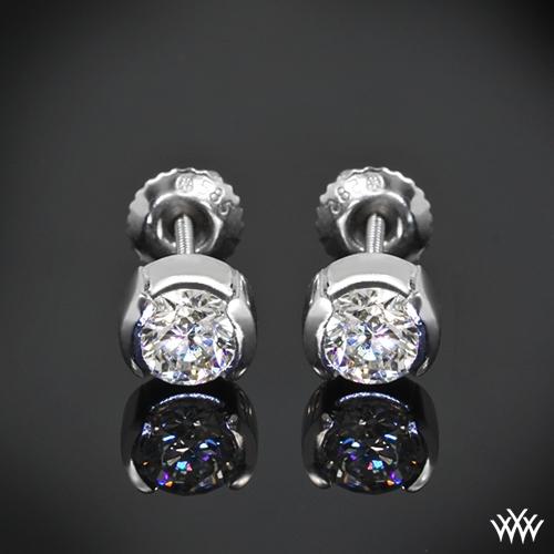 Half-Bezel Diamond Earrings