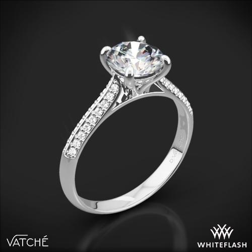 Vatche 189 Caroline Pave Diamond Engagement Ring