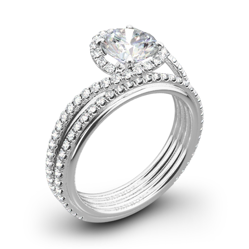 Danhov AE165 Abbraccio Diamond Wedding Set
