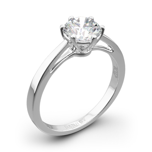 Danhov CL133 Classico Single Shank Solitaire Engagement Ring