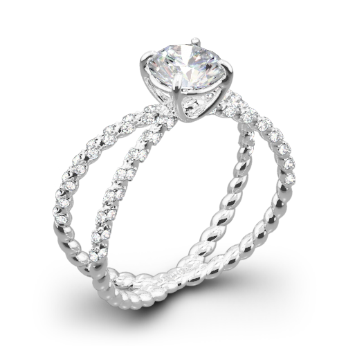 Danhov ZE185H Eleganza Diamond Engagement Ring
