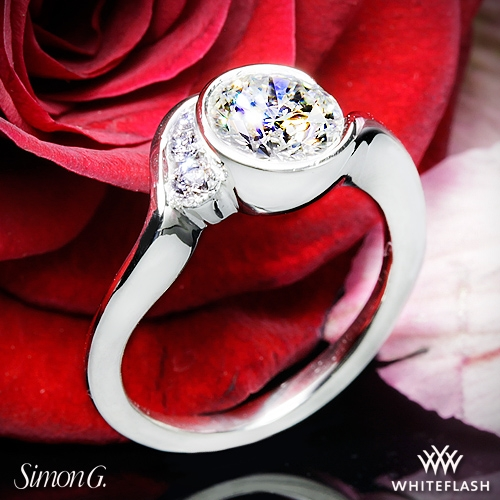 Simon G. MR2549 Fabled Bezel Solitaire Engagement Ring