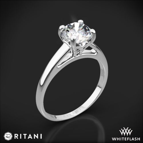 Ritani 1RZ7231 Cathedral Solitaire Engagement Ring