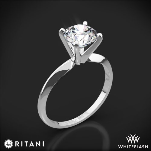 Ritani 1RZ7286 Knife-Edge Solitaire Engagement Ring