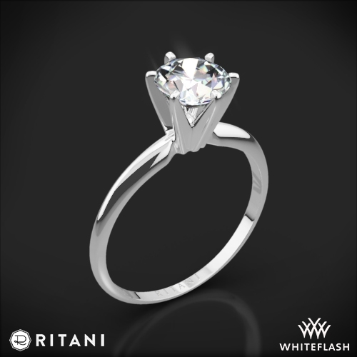 Ritani 1RZ7295 Six-Prong Knife-Edge Solitaire Engagement Ring