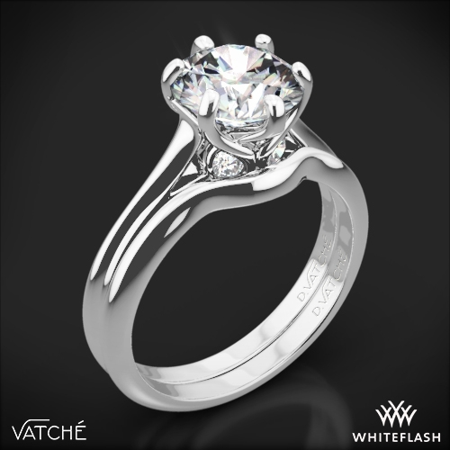 Vatche 191 Swan Solitaire Wedding Set
