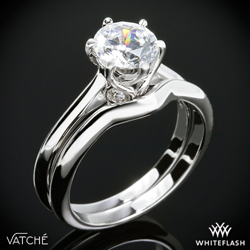 Vatche 191 Swan Solitaire Wedding Set