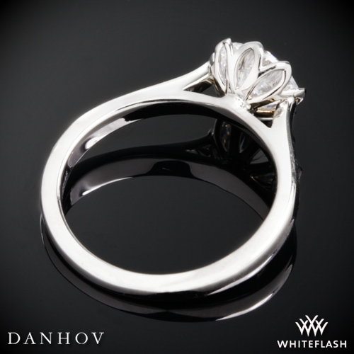 Danhov CL140 Classico Solitaire Engagement Ring Whiteflash 3811
