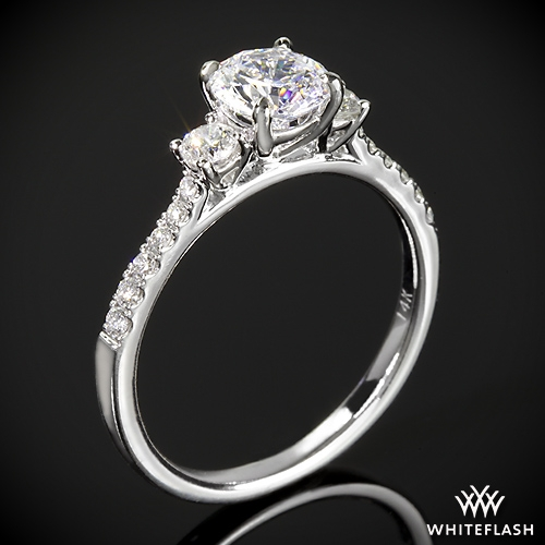 Cheri 3 Stone Diamond Engagement Ring