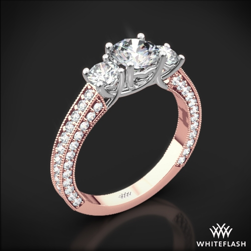 Coeur de Clara Ashley Three Stone Engagement Ring