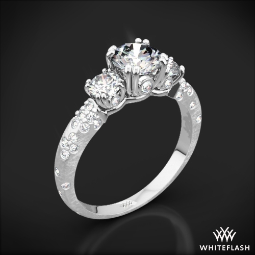 Champagne Petite Three Stone Engagement Ring
