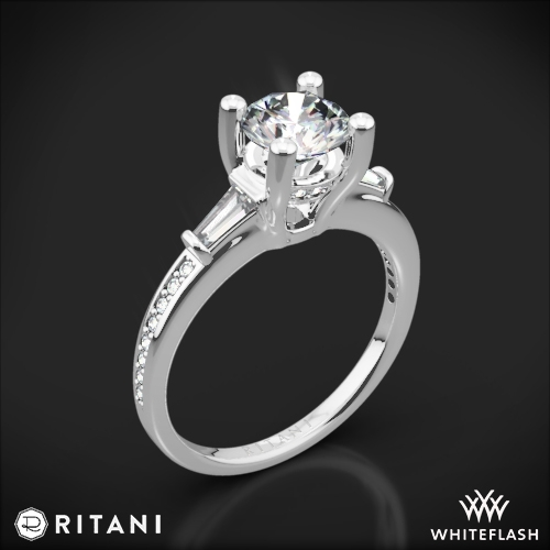 Ritani 1RZ3051 Tapered Baguette Three Stone Engagement Ring