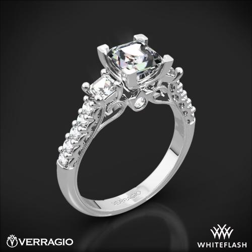 Verragio Classic 904P5 3-Stone Diamond Engagement Ring for Princess