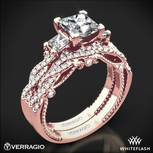 Verragio Ins 7074p Braided Three Stone Wedding Set For Princess 1