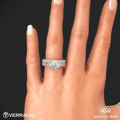Verragio Ins 7074r Braided Three Stone Wedding Set 7
