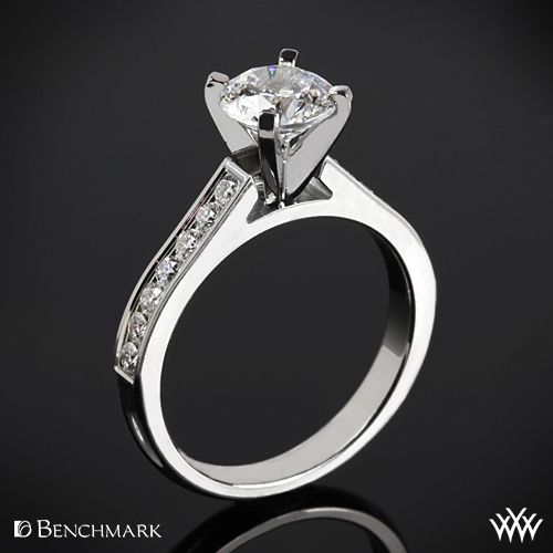 Benchmark Channel-Set Diamond Engagement Ring