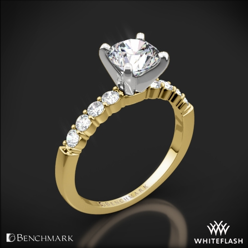 Benchmark Shared-Prong Diamond Engagement Ring