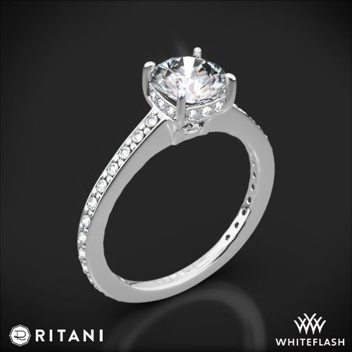 Ritani 1RZ1966 Micropavé Diamond Engagement Ring