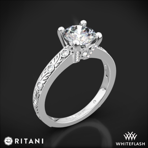 Ritani 1RZ3614 Grecian Leaf Diamond Engagement Ring