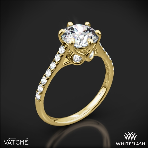 Vatche 1054 Swan French Pave Diamond Engagement Ring