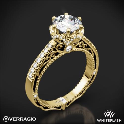 Verragio AFN-5052-4 6 Prong Crown Diamond Engagement Ring