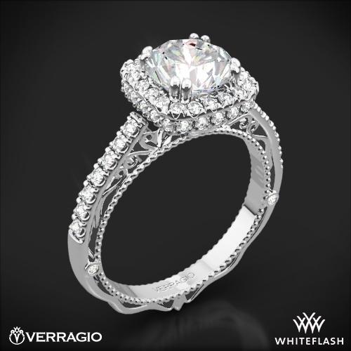 Verragio AFN-5053CU-4 Cushion Halo Bloom Diamond Engagement Ring