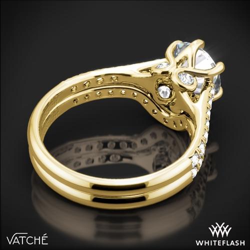 76a1de0f85a28 18k Yellow Gold Vatche 1054 Swan French Pave Diamond Wedding Set