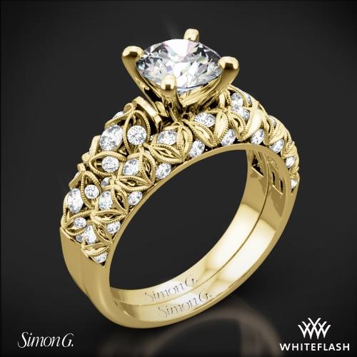 Simon G. LP1582 Delicate Diamond Wedding Set