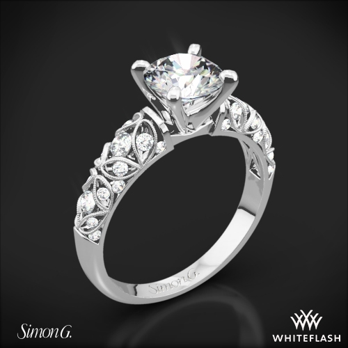 Simon G. LP1582-D Delicate Diamond Engagement Ring
