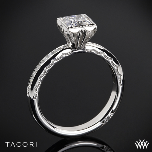 Tacori Starlit Princess Channel-Set Diamond Engagement Ring