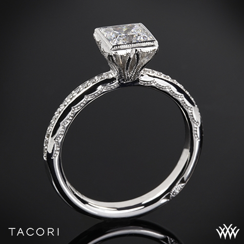 Tacori Starlit Princess Bezel Diamond Engagement Ring