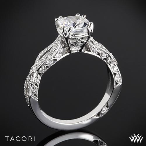 Tacori HT2528CU Cushion Twist Diamond Engagement Ring